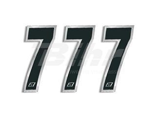 Numeros de carrera negro Blackbird 15X7 Cm - Pack 3 uds 5069/20/7