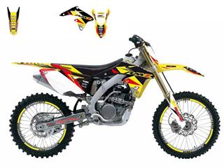 Kit déco BLACKBIRD Dream Graphic 3 Suzuki RM-Z250 - 78177118