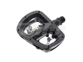 Par Pedales MTB Plataforma/Clip aluminio eje Cr-Mo Wellgo W43 color negro