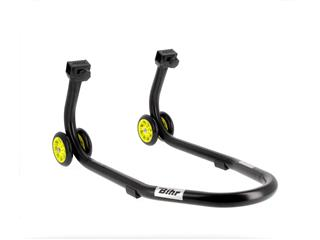 Béquille avant BIHR Home Track noir mat roues jaune - 63900099