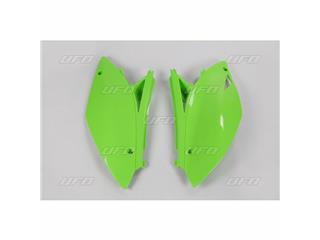 Plaques latérales UFO vert KX Kawasaki KX450F - 78227842