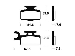 Plaquettes de frein TECNIUM Type 252  Métal fritté