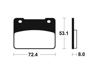 Plaquettes de frein TECNIUM ME393 organique - df1f73ae-f501-4d54-a6c0-499f6743fc72