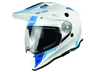 Casque JUST1 J34 Adventure Shape Blue Neon Gloss taille XS