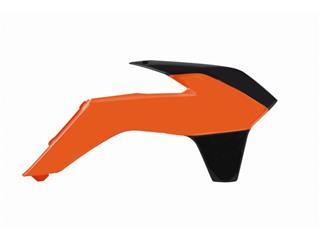 Ouïes de radiateur POLISPORT couleur origine 13-14 orange/noir KTM SX85 - PS315KN07