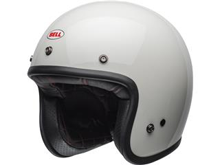 Casque BELL Custom 500 DLX Solid Vintage blanc taille XXL