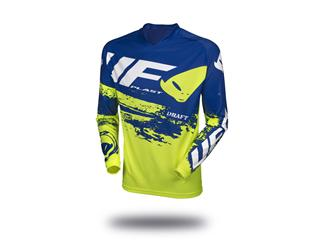Maillot UFO Draft jaune fluo/bleu taille M