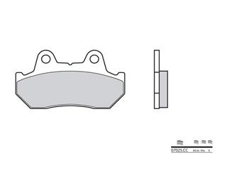 BREMBO Brake Pads 07025CC Carbon Ceramic