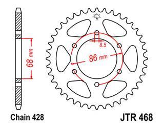 Couronne JT SPROCKETS 46 dents acier pas 428 type 468 - 47046846