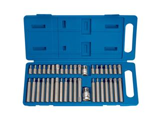 DRAPER TX-STAR®, Spline (XZN), CHC Bits Set Plastic Case 40 pieces