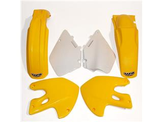 UFO Plastic Kit OEM Color Yellow/White Suzuki RM125/250