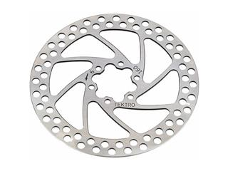 DISC ROTOR TEKTRO ROUND/INCL.BOLTS SILVER/140MM