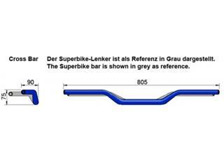 Guidon LSL X00 Cross Bar Ø28.6mm alu noir - e19f1569-6aa0-45f3-8282-7e3cd3b02d8b