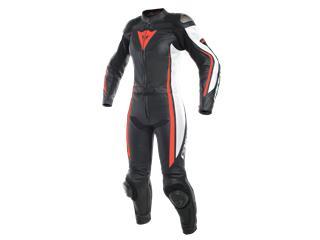 Leather Suit Dainese Assen 2 Pcs Lady Blk/Wht/Redfluo Sz EU 42 (IT48)