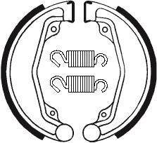 Machoires de frein TECNIUM BA068 organique - 390680