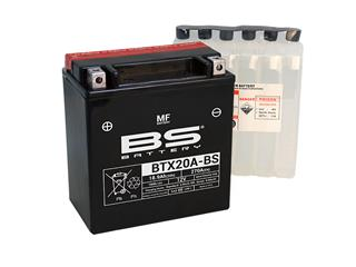 Batterie BS BATTERY BTX20A-BS sans entretien livrée avec pack acide