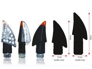 Clignotants BIHR Blade LED court noir universel