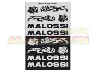 Planches d'autocollants Malossi noir/argent par 3 - 980013