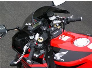 Guidons bracelets relevés LSL Tour Match argent Honda CBR1000RR