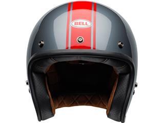 BELL Custom 500 DLX Helmet Rally Gloss Gray/Red Size M - e44ae7fe-df42-45c1-b5ff-8e45ce7ddd07