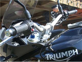 Bar mounts for TRIUMPH Tiger, 1050 '09