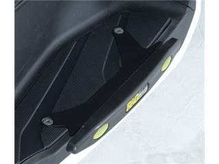R&G RACING Black Footboard Slider Yamaha/MBK