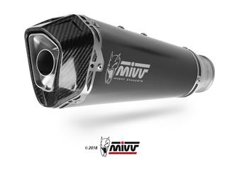 MIVV Delta Race Muffler Steel Black/Carbon End Cap Kawasaki ZX-10R