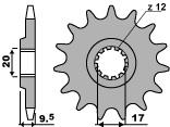 Pignon PBR 14 dents acier standard pas 420 type 7005 KTM SX60