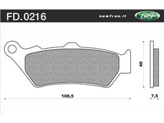 Plaquettes de frein NEWFREN FD0216BR organique