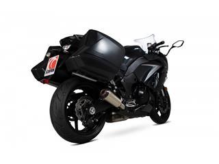 """Escape Scorpion Red power Slip-On Titanio satinado Kawasaki Z 1000 SX 17-Current  17-19"""