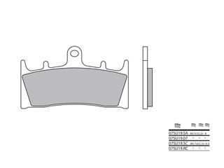 Plaquettes de frein BREMBO 07SU19SC métal fritté - 38800272