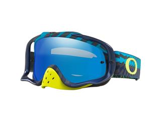 Masque OAKLEY Crowbar MX Braking Bumps Blue Green écran Black Ice Iridium + transparent
