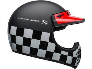 Casco Bell Moto-3 FASTHOUSE CHECKERS Negro/Blanco/Rojo, Talla XS - 800000058067