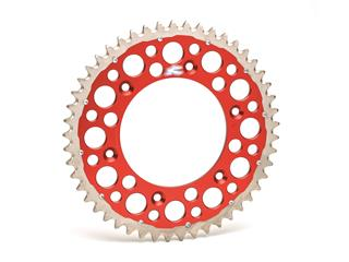 RENTHAL Twinring® 48 Teeth Rear Sprocket Ultra-light Self-Cleaning Hard Anodized 520 Pitch Type 1540 Red