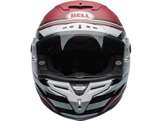 BELL Race Star Flex DLX Helmet RSD The Zone Matte/Gloss White/Candy Red Size S - e83464db-1333-4cb9-bd38-71324685ea56