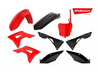 Kit plastiques POLISPORT rouge/noir Honda CRF250/450R - 4420007903