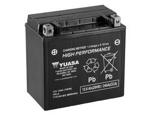 Batterie YUASA YTX14H-BS sans entretien livrée avec pack acide - 32YTX14HBS