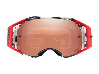 OAKLEY Airbrake MX Goggle Troy Lee Designs Liberty RWB Prizm MX Black Iridium Lens