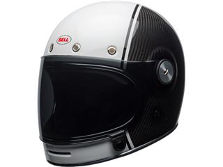 BELL Bullitt Pierce Carbon Helmet Gloss White/Carbon Size XL
