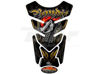 Protector de depósito Motografix BANDIT 4 piezas negro oro