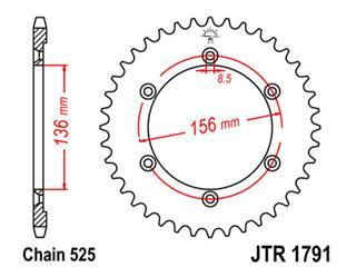 Couronne JT SPROCKETS 41 dents acier pas 525 type 1791 - 47179141