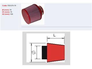 Filtre à air BMC conique manchon Ø78mm - 790056