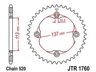 Couronne JT SPROCKETS 40 dents acier pas 520 type 1760 Suzuki LT-Z400 Quadsport - 47176040
