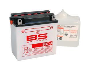 Batterie BS BATTERY BB7-A conventionnelle livrée avec pack acide