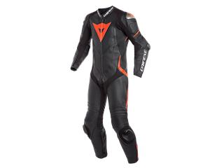 Leather Suit Dainese Laguna Seca 4 1Pc Perf. Blk/Fluo Red Sz 46
