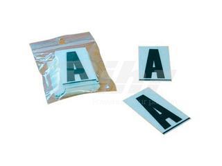 Caractere PPI 45mm D clip para matrícula en PVC 50uds