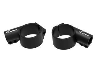 LIGHTECH Clip-ons Ø50 Height 0mm/Offset +20mm/10° Black