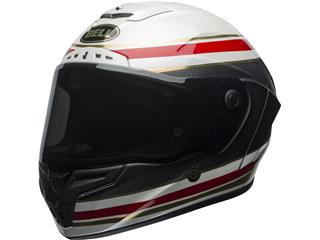 BELL Race Star Flex Helmet RSD Gloss/Matte White/Red Carbon Formula Size L - 800001070270