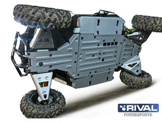 RIVAL Complete Skid Plate Kit Aluminum Can-Am Maverick DS/RS/Turbo