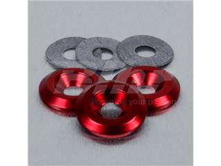 Arandela de Aluminio avellanada M6 rojo LWAC6-22R - 50164